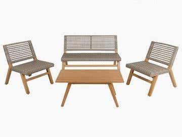 Resin Garden Furniture (4 pcs)