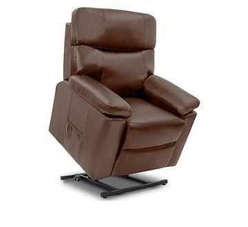 Brown Massaging Lift Chair Recliner