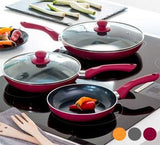 5 piece Ceramic Frying Pans - Pisis Empire