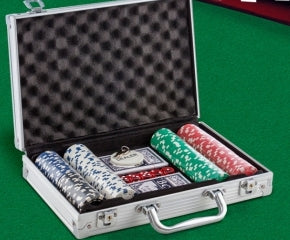 Deluxe Poker Case Set with 200 Chips