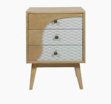 Brown/Grey Mdf Nightstand