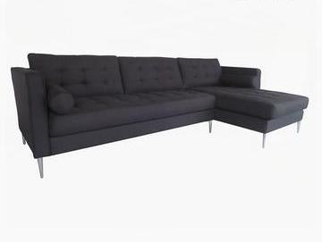 Pine Sofa Polyester Black
