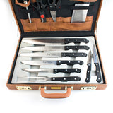 Carrying Case of Kitchen Knives (13 Pieces)