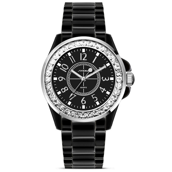 Casual Diamond Crusted Wrist Watch - Pisis Empire