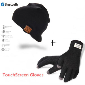 Fashionable Wireless Bluetooth Beanie + Touchscreen Gloves