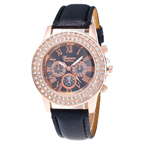 Elegant Double Diamond Watch