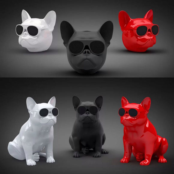 Portable Bulldog Head Speaker