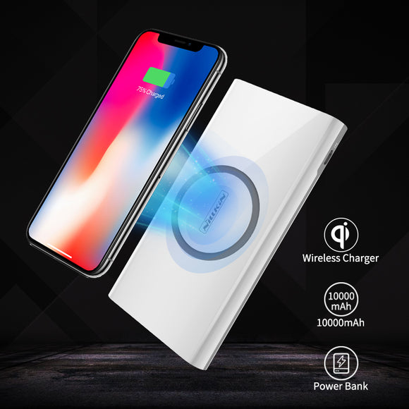 2 in 1 Wireless Charger + Universal Portable Power bank