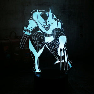 Cool Marvel Super Hero 3D Night Lamp