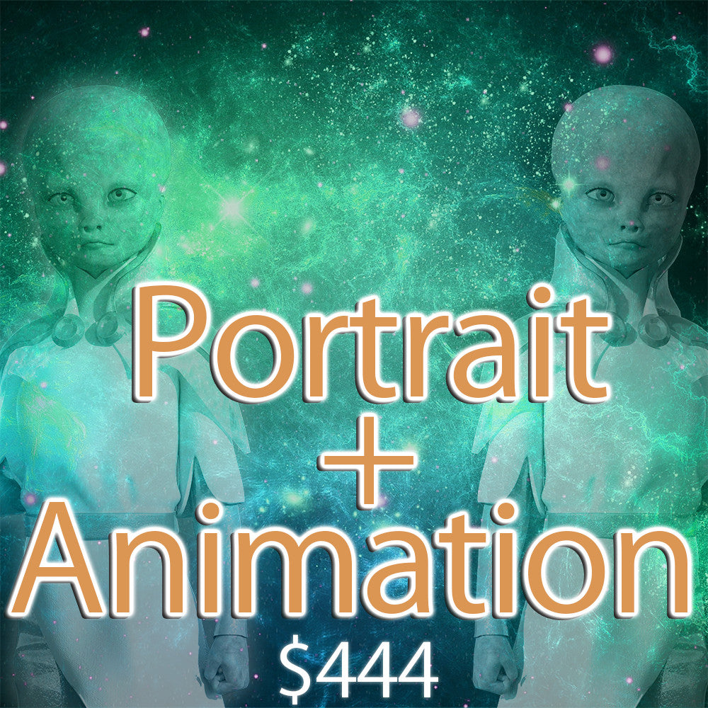 Self-Portrait OR Channeled ET Art + Animation Package