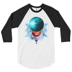 Planetary Alignment - 3/4 sleeve unisex raglan shirt