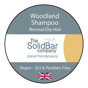 Woodland Vegan Shampoo at That Cool Place new label image