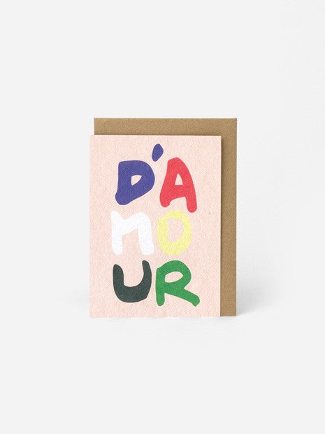 MESSAGE CARD A6 / THE D'AMOUR CARD