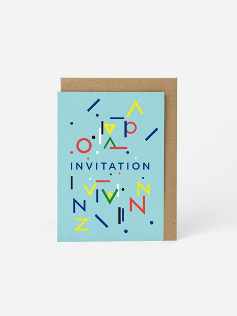 MESSAGE CARD A6 / INVITATION