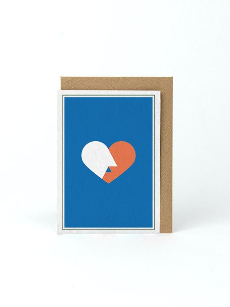 MESSAGE CARD A6 / THE FRENCH KISS