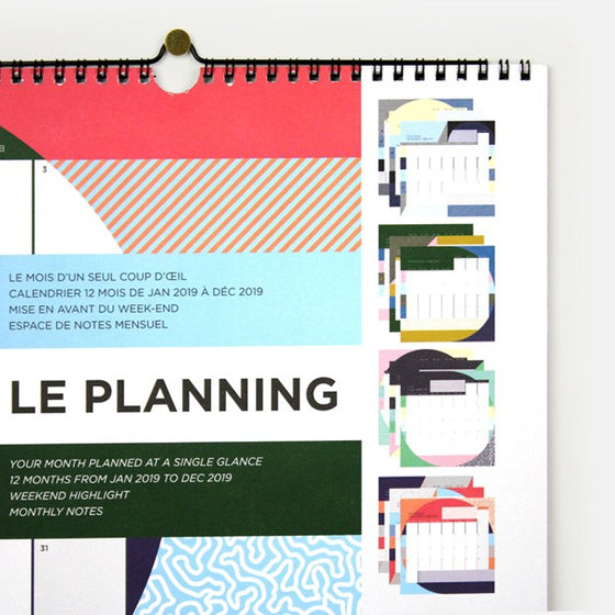 PLANNERS / LE PLANNING 2019