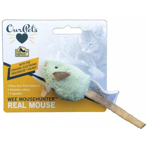 PLAY-N-SQUEAK WEE MOUSEHUNTER 5.5CM MOUSE