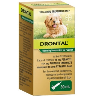 DRONTAL WORMING SUSPENSION PUPPIES 30ML