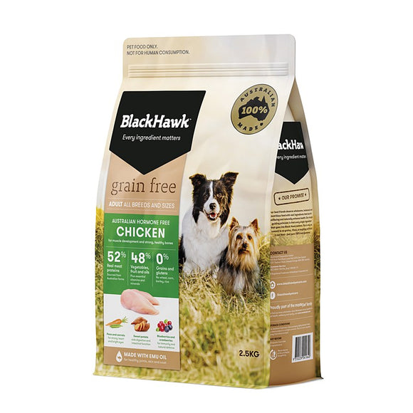 BLACK HAWK DOG GRAIN FREE ROO 2.5KG