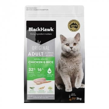 BLACK HAWK FELINE CHICKEN & RICE 1.5KG