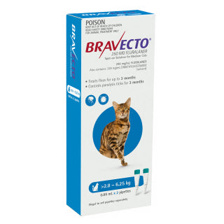 BRAVECTO CAT SPOT ON 2.8-6.25KG 2PK