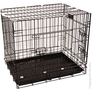 PET ONE DOG CRATE D30 BLK