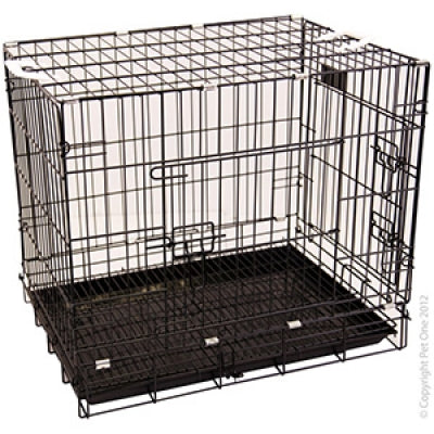 PET ONE DOG CRATE D42 BLK