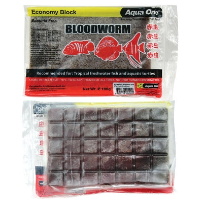 AQUA ONE FROZEN BLOODWORMS 100GM