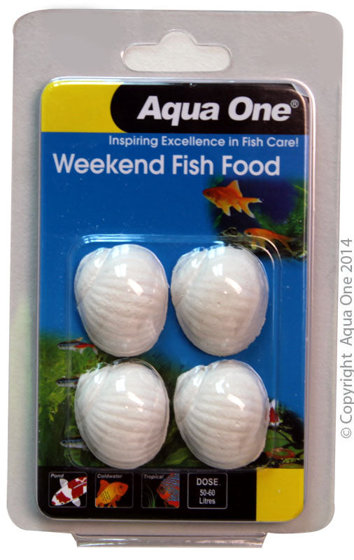 AQUA ONE WEEKEND BLOCK FISH FOOD 20G
