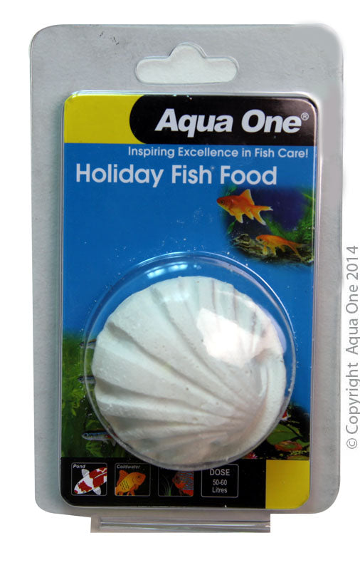 AQUA ONE HOLIDAY BLOCK FISH FOOD 40G