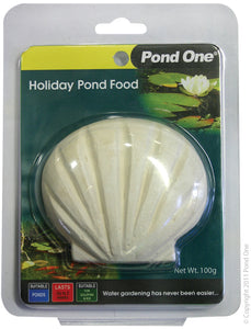 POND ONE HOLIDAY BLOCK FISH FOOD 100G