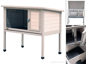 PET ONE RABBIT HUTCH N RUN (SINGLE STOREY)