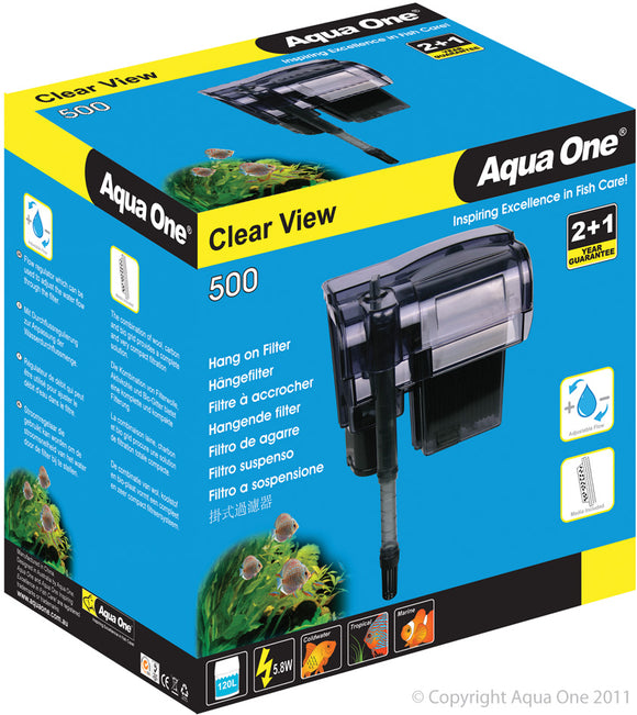 AQUA ONE CLEARVIEW 500 HANG ON FILTER 500L/H
