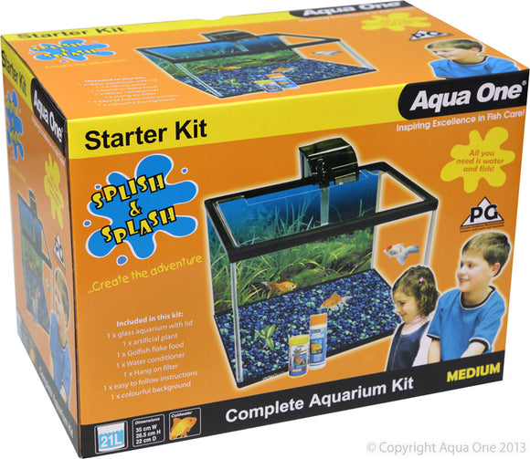 AQUA ONE SPLISH & SPLASH STARTER KIT 21L