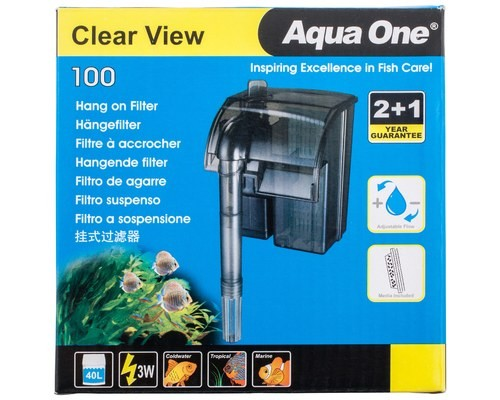 AQUA ONE CLEARVIEW 100 HANG ON FILTER 180L/H