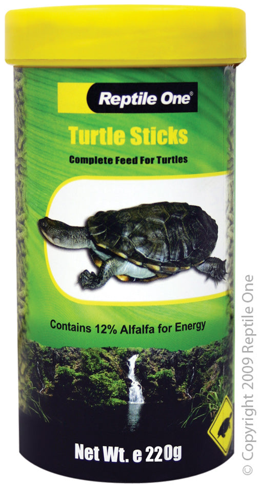 REPTILE ONE TURTLE STICK FOOD 220G