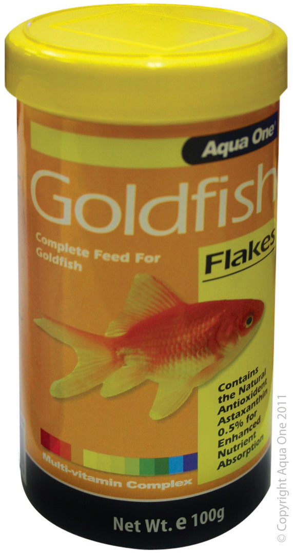 AQUA ONE GOLDFISH FLAKES 100G