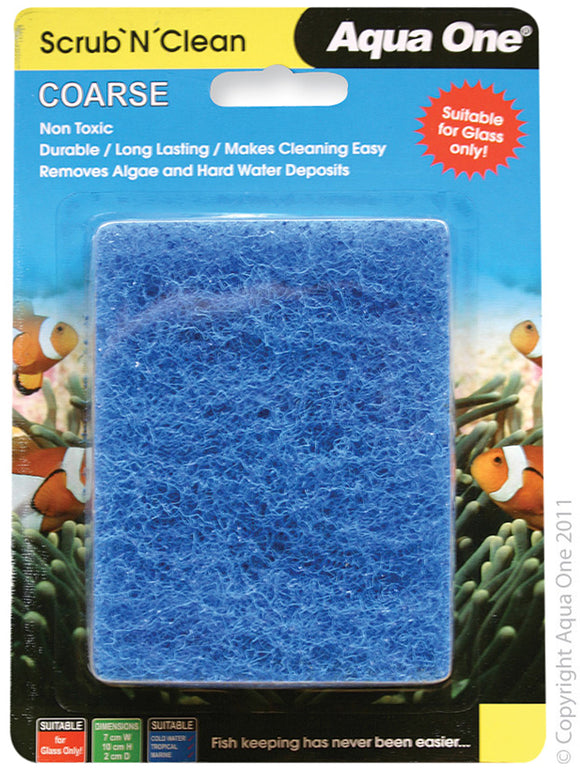 AQUA ONE SCRUB N CLEAN COARSE SMALL