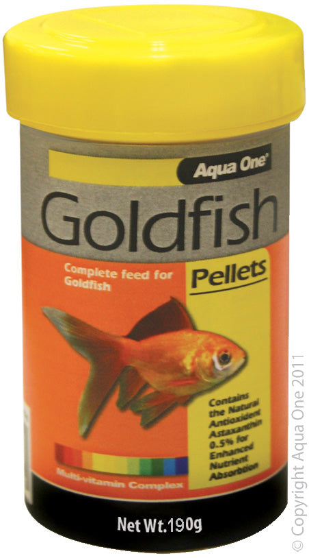 AQUA ONE GOLDFISH PELLETS 190G