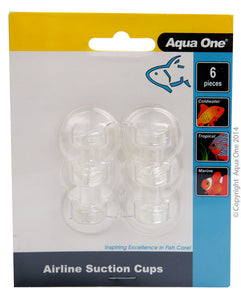 AQUA ONE SUCTION CUPS AIRLINE 6PK