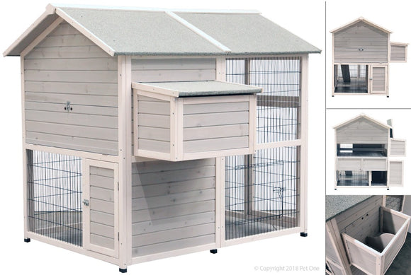 PET ONE CHICKEN HOUSE TIMBER