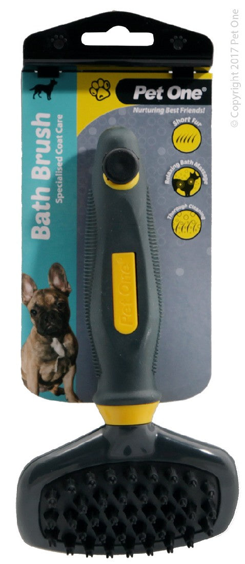 PET ONE GROOMING BATH BRUSH SML