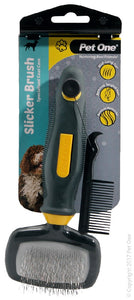 PET ONE GROOMING SLICKER BRUSH SMALL