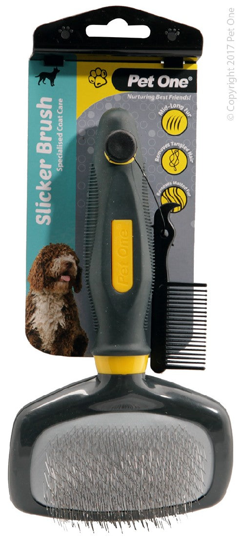 PET ONE GROOMING SLICKER BRUSH LGE