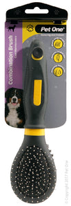 PET ONE GROOMING BRISTLE/METAL SML