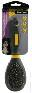 PET ONE GROOMING BRISTLE/METAL LGE