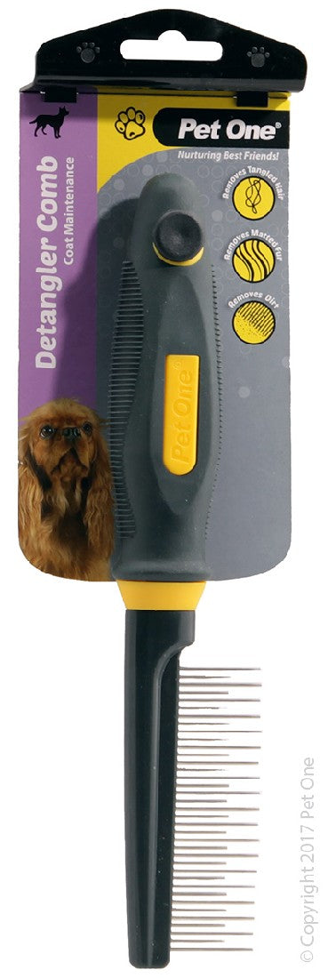 PET ONE GROOMING DETANGLER COMB MEDIUM 35 PINS