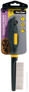 PET ONE GROOMING DETANGLER COMB FINE 42 PINS