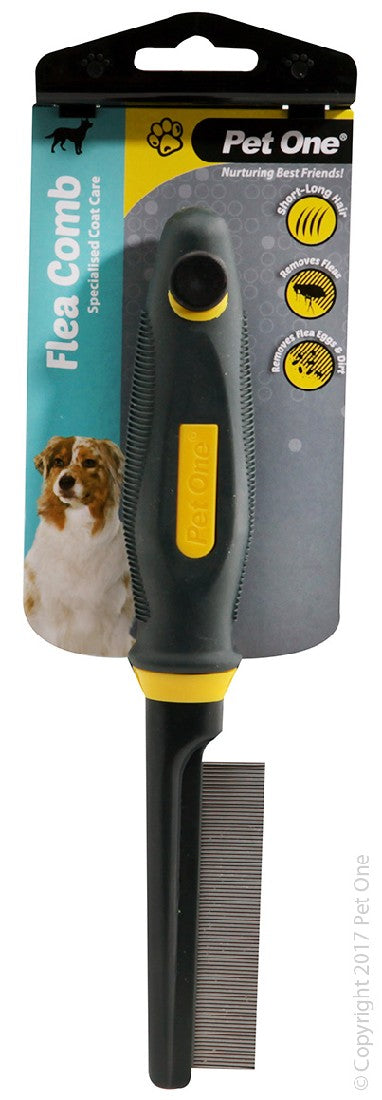 PET ONE GROOMING FLEA COMB X/FINE 80 PINS