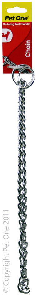 PET ONE 65CM CHECK CHAIN COLLAR 4MM